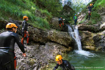 Canyoning in the Susec Canyon of the