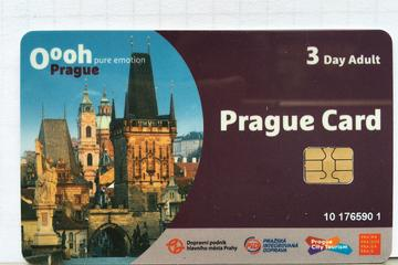 Tarjeta Prague City Card para 3 días con transporte público gratuito