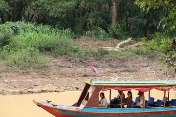 Sunset at Tonle Sap Lake from Siem Reap