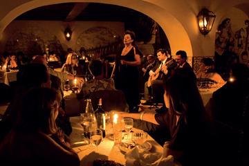 Autentisk fadoshow och rundtur i Lissabon med middag och dryck
