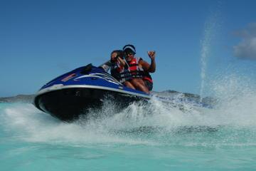 Recorrido en moto de agua en Bora Bora sin conductor
