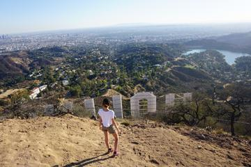 Hollywood sign walk to the top