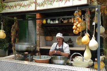 Mozzarella Cheese Spinning Show in Sorrento