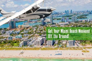 Day Trip Private Airplane Tour over Miami Beach and South Beach near Pembroke Pines, Florida