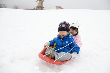 Grinpa Snow Field, Mt. Fuji, and...