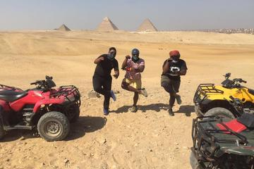 Desert safari at Giza Pyramids with Quad Bike During sunset