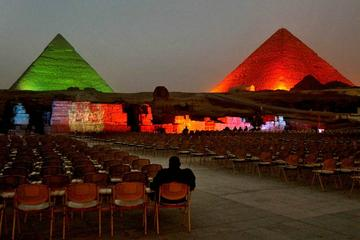 Cairo Layover Tours to Giza Pyramids Egyptian Museum Bazaar Sound & Light show