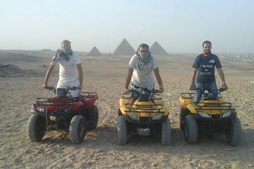 Giza Pyramids Adventure Tours on ATV Quad bike ride in desert