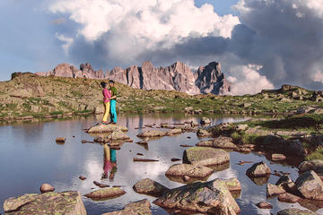 Photoshooting in the Dolomites - lakes and mountais