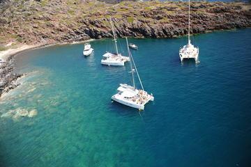 Croisière en voilier à Santorin à destination de la plage rouge et...