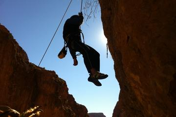 Rock climbing in Todra Gorges in...