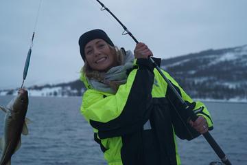 Angelausflug im Luxus-Katamaran in Tromsø
