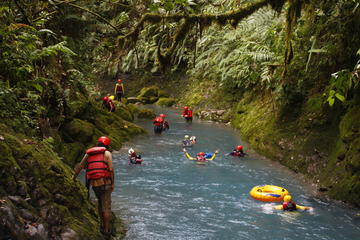 Full-Day Blue Falls Canyon Tour From La Fortuna