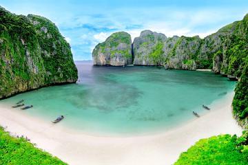 Visita a primera hora a la isla Phi Phi en lancha motora desde Phuket