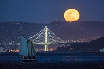 Day Trip Full Moon Sail on the San Francisco Bay near Sausalito, California