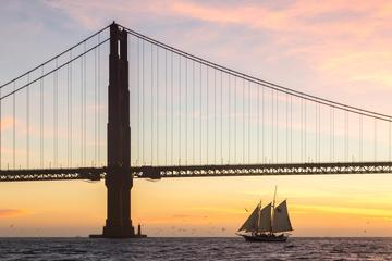 Day Trip Sunday Sunset Sail on San Francisco Bay near Sausalito, California