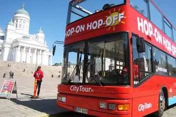 Bus rouge Helsinki, billet valable 24heures sur le circuit à arrêts...