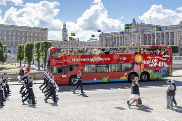 Stockholm roter Bus 24 Stunden Hop-on-Hop-off-Ticket