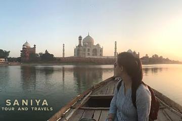 Overnight tour of Agra sunset with boat ride and sunrise Taj Mahal