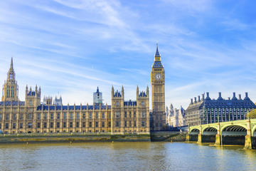 Im Inneren der Houses of Parliament und Westminster Abbey in London