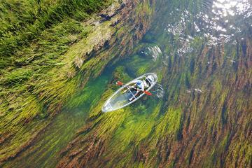 Kayaks transparents sur la rivière...