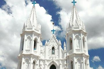 Tour of Basilica of Our Lady of Good Health in Velankanni from Thanjavur