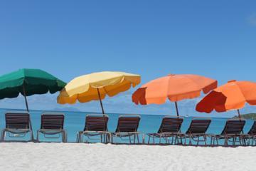 Dag op het strand van Great Bay Beach, inclusief vervoer