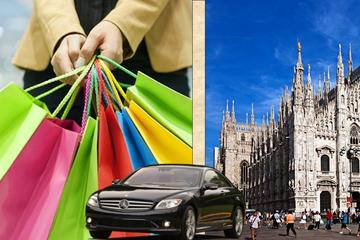Milan Shopping Tour with Car and Assistant