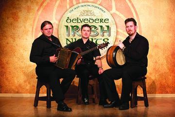 Traditionell irländsk kvällsshow i Dublin, inklusive trerättersmiddag ...
