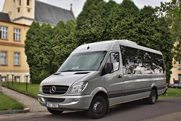 With minibus Mercedes Sprinter from ...