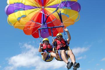 Deux grandes aventures: expérience de parachute ascensionnel et...