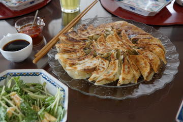 Gyoza Making at a Private Home in Tokyo
