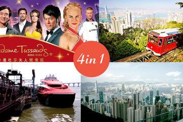 E-Ticket Combo:HK to Macau ferry, Peak Tram, Madam Tussauds Museum & Sky Terrace