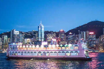 Victoria Harbour Dinner Cruise with hotel pickup from Kowloon