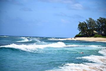 オアフ日帰り旅行: ハワイ島発のパールハーバー&オアフ島ノースショアツアー