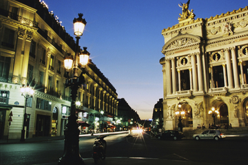 Paris : illuminations de nuit et...