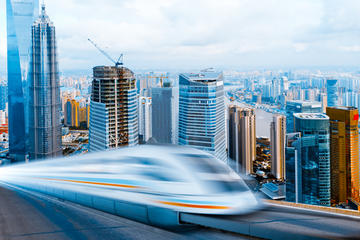 Arrival Transfer by High-Speed Maglev Train: Shanghai Pudong...