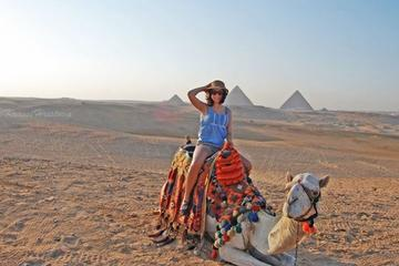 Day tour to Giza-sakkara-Memphis with camel ride with sound and light show evening