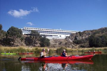 Kayaking to Uros floating islands...
