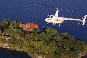Day Trip Thousand Island Helicopter Tour Including Boldt and Singer Castles near Gananoque, Canada