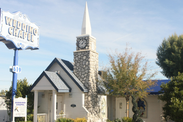 Las Vegas-bruiloft in de Graceland Wedding Chapel