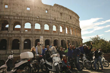 Combo Rome by Scooter and Colosseum Skip-the-line Guided Tour