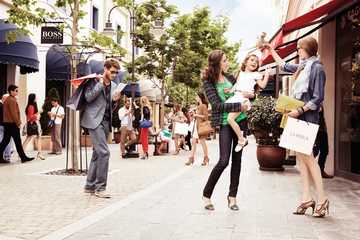 O passeio de compras por Las Rozas...