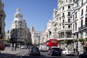 Panorama sigthseeingtur i Madrid