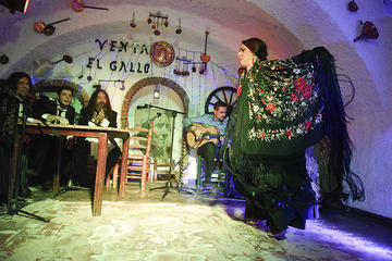 Show de flamenco em Albaicin...