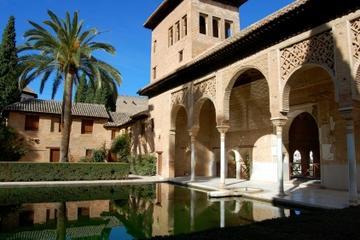 Tour a piedi di Granada con giardini dell'Alhambra da Malaga
