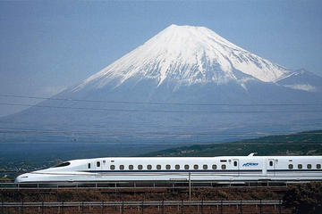 """Dagstur med """"kuletog"""" (Shinkansen) fra Tokyo til Mount Fuji og..."""