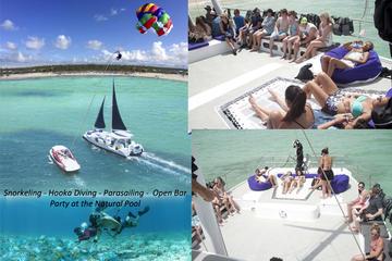Catamaran Cruise with Snorkeling, Hooka Diving and Parasailing