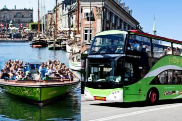 Copenhagen Hop-On Hop-Off Tour by Bus and Boat & entrance to Tivoli Gardens