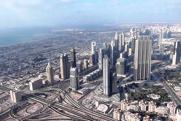 Bezoek aan het observatiedek van de Burj Khalifa vanuit Dubai
